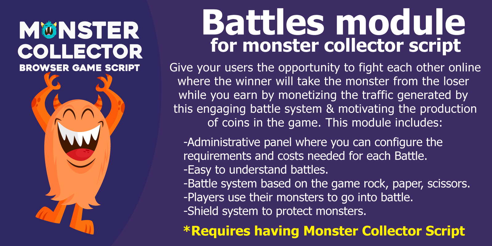 Module Battles for Monster Collector Script