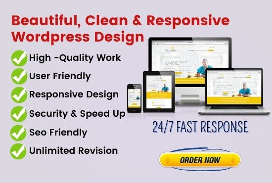 I will create responsive and seo friendly wordpress website