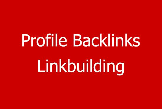 Create 140 Do Follow Manually PR1-PR9 and High DA Profile Backlinks for You
