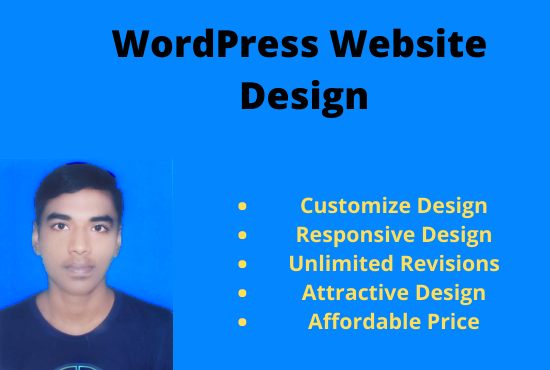 I will design your personal, business wordpress website