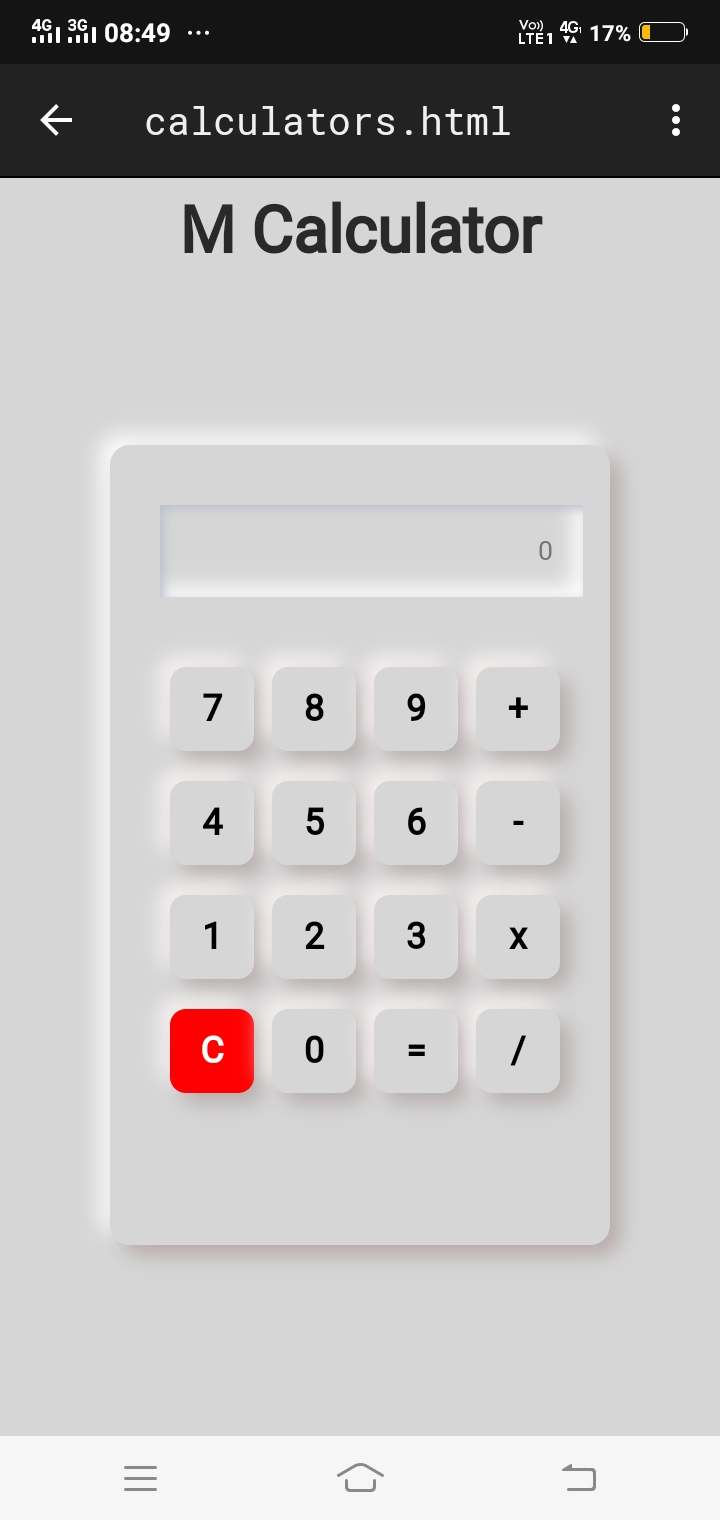 This a html based calculator with Css fully designing app