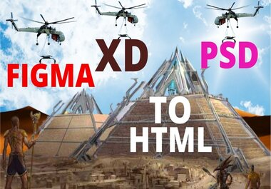 I will convert PSD,  XD,  FIGMA to html with responsive.