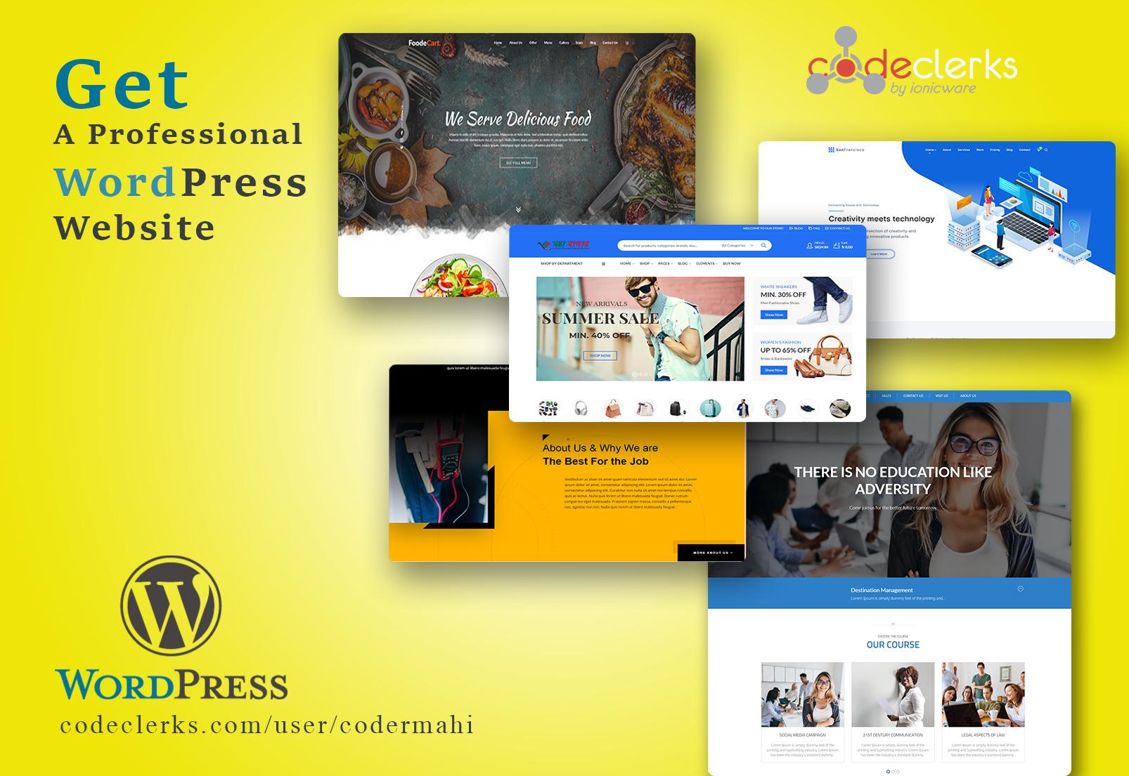 I will install wordpress theme setup demo and do customization