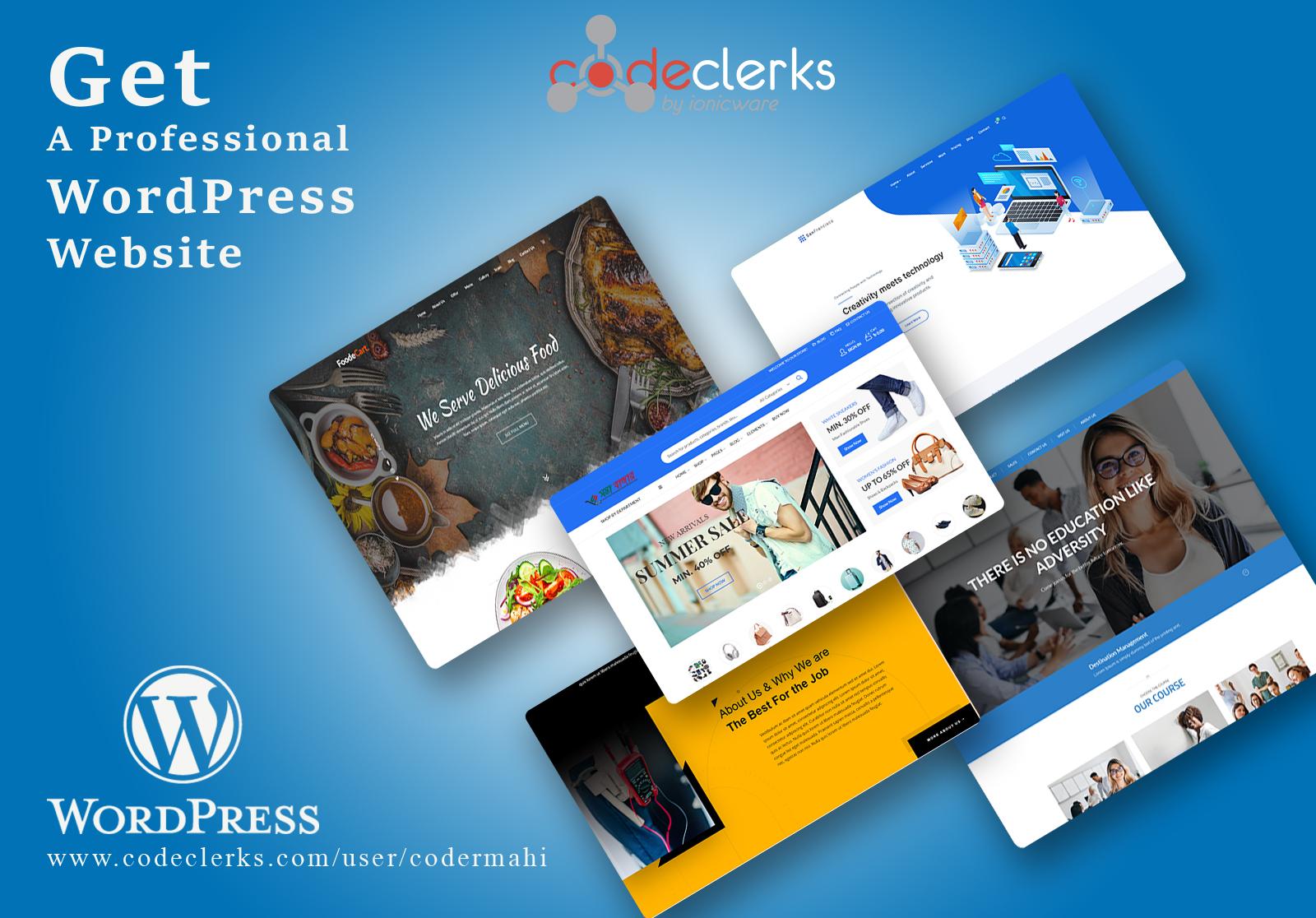 I will design and develop responsive wordpress website