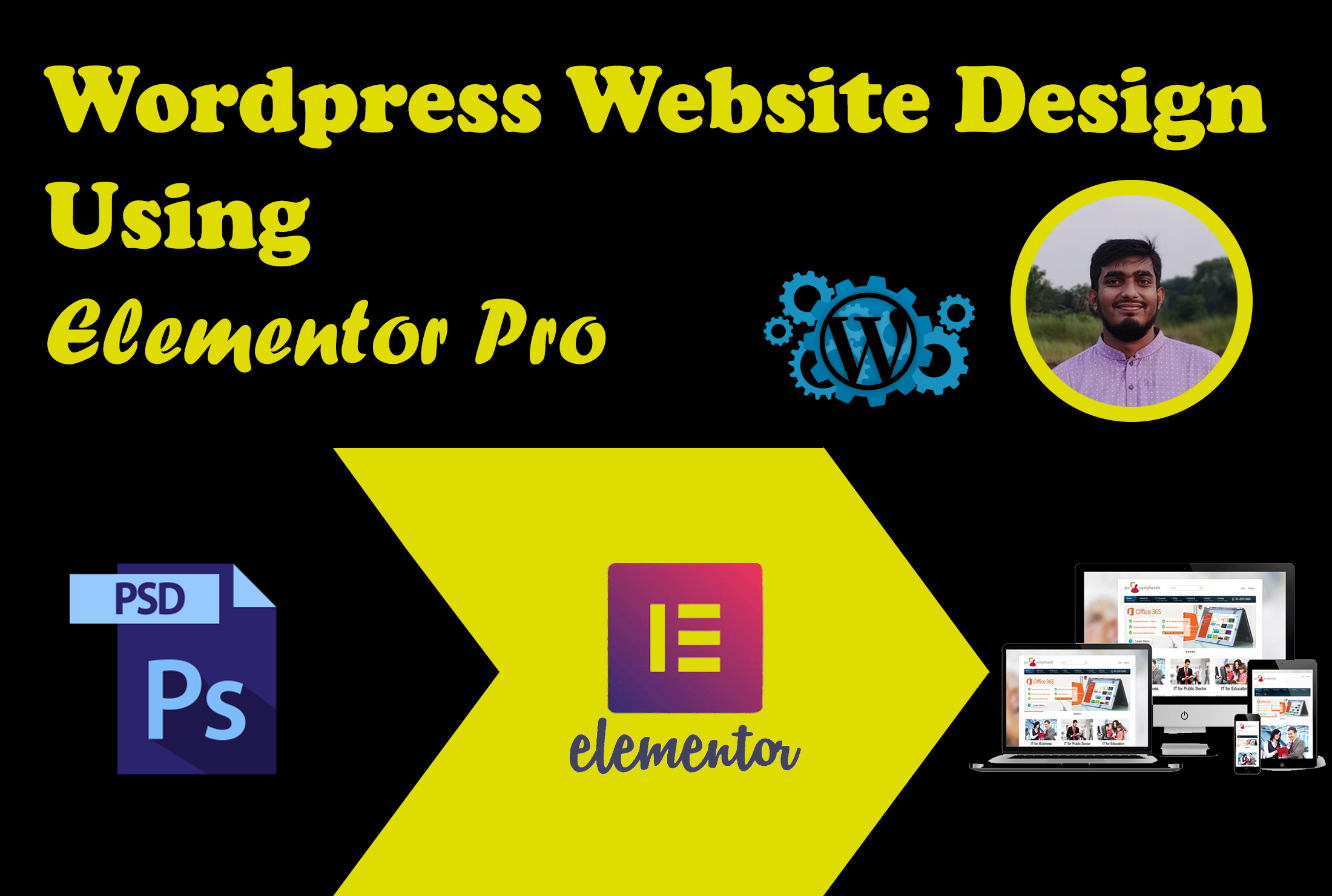 create or redesign wordpress website or landing page using elementor