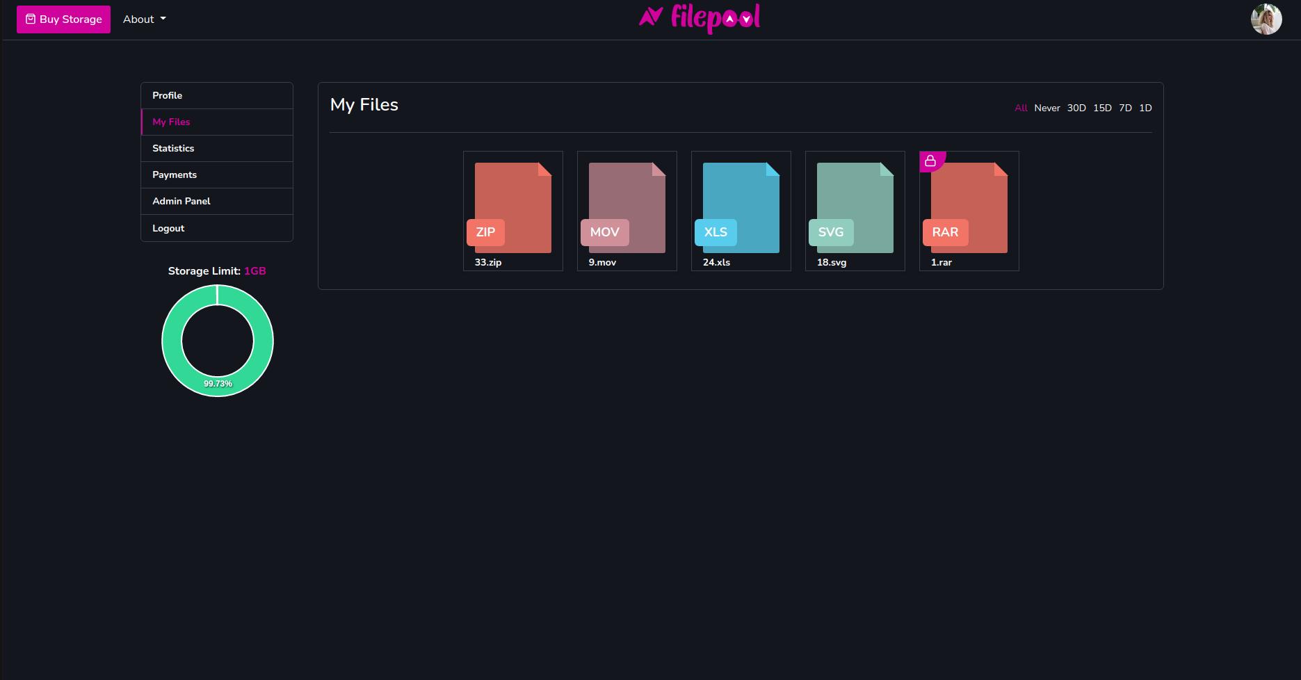 Filepool - SaaS File Storage Platform