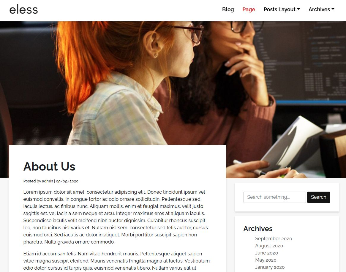 Eless - Minimalistic Wordpress Theme