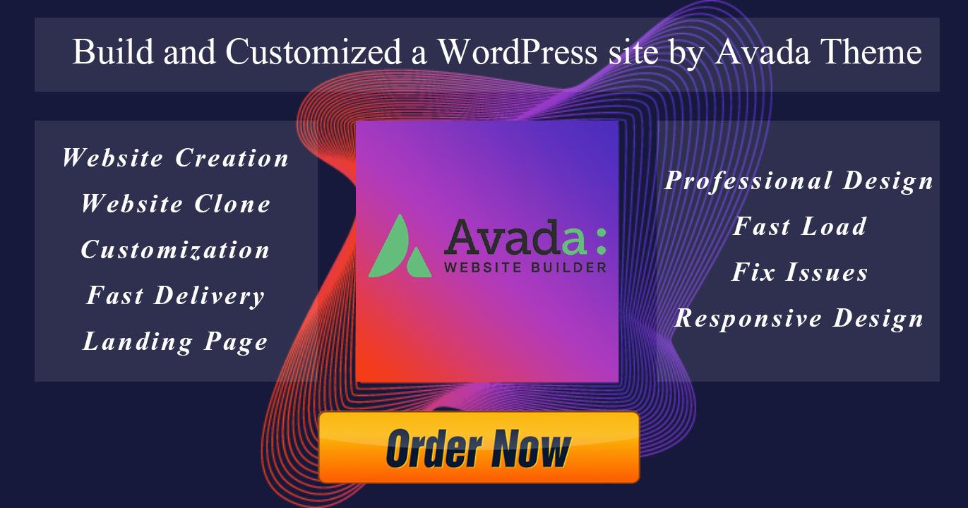 I'll create a professional wordpress site using the Avada theme