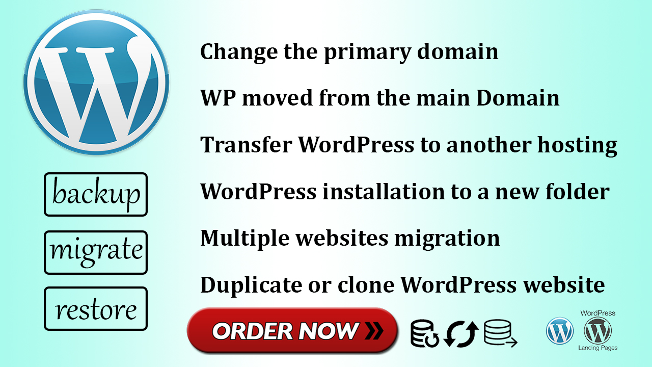 I'll transfer,  relocate,  or migrate your WordPress to a different host