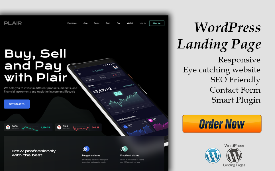 I'll create a WordPress landing page that is both responsive and user-friendly