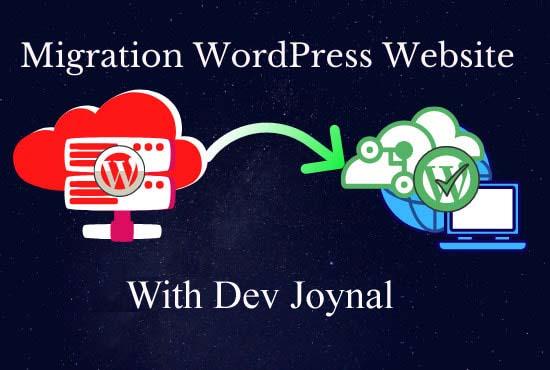 backup,  migrate,  transfer,  restore word press website
