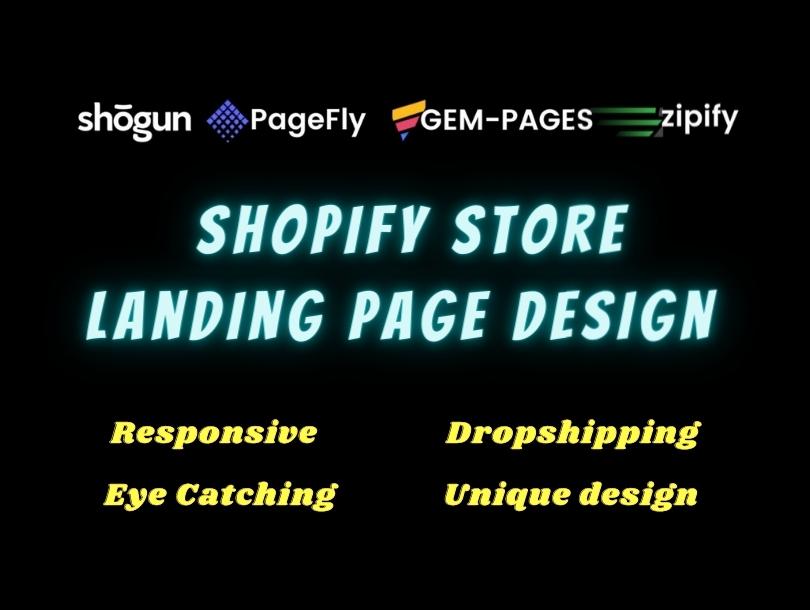 I will design shopify ecommerce website
