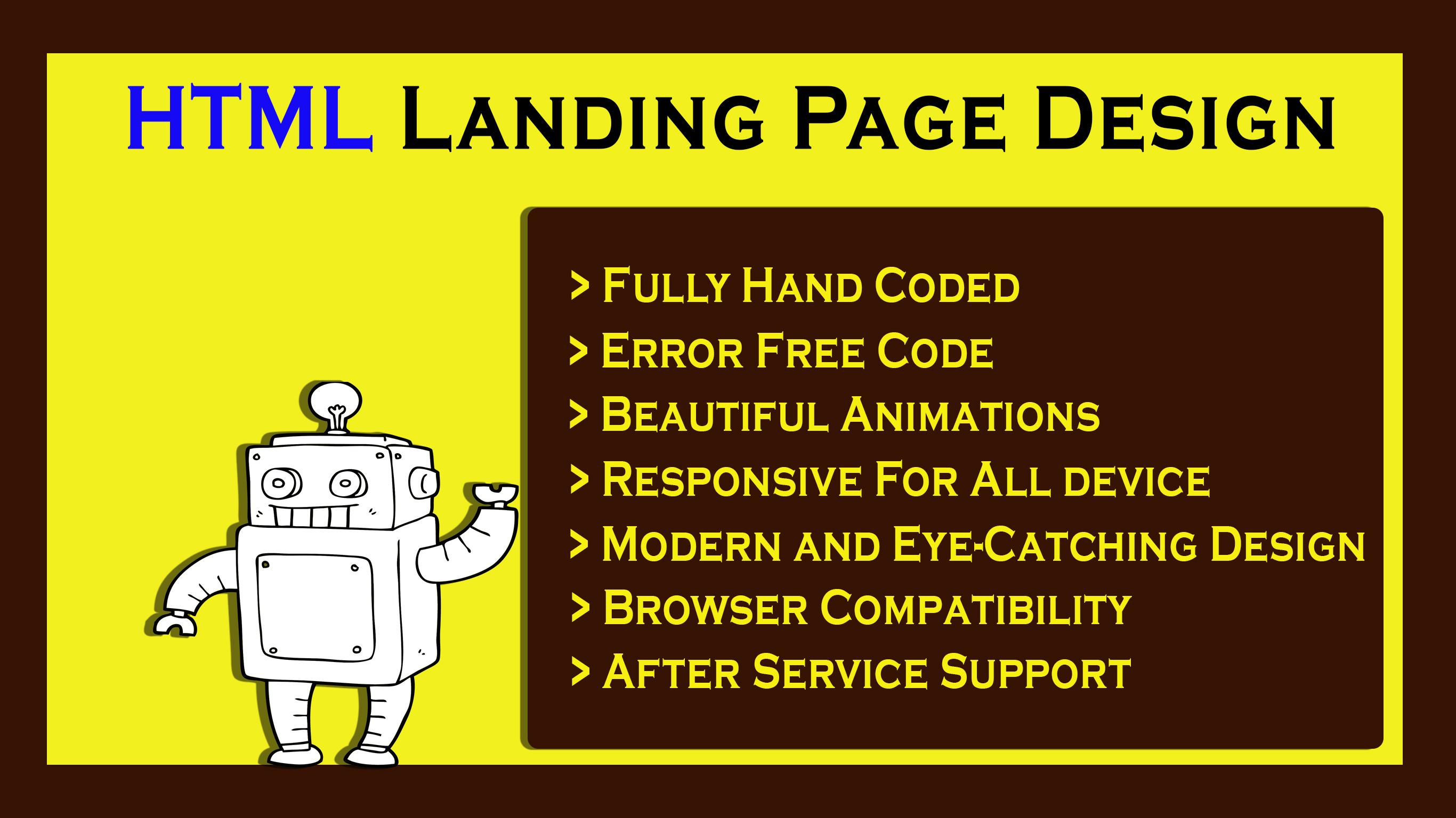HTML Responsive Landing Page Design