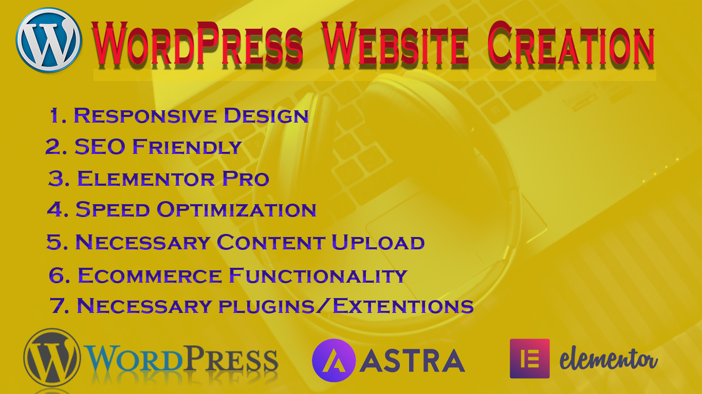 Create or Customize WordPress Website