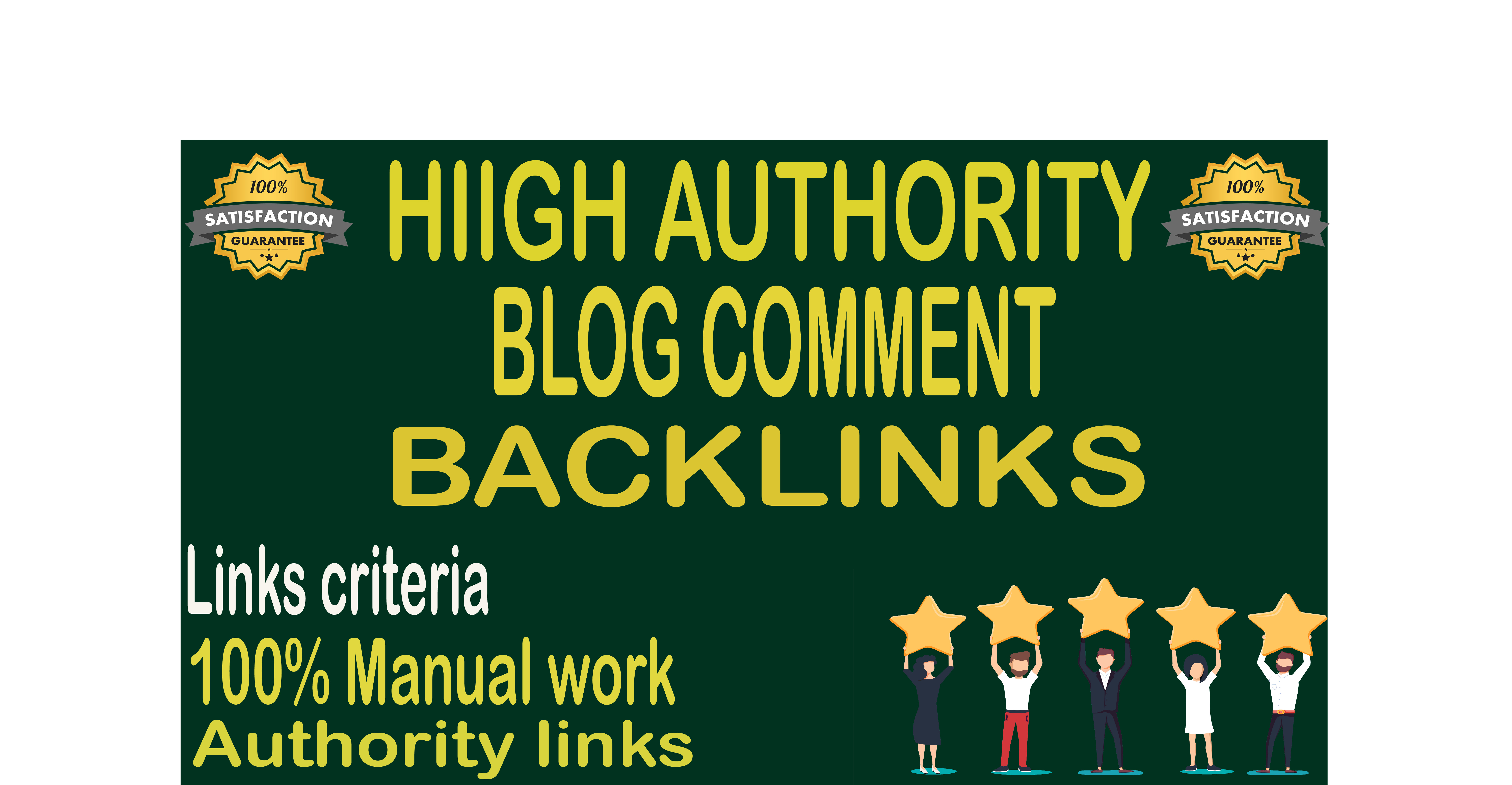 Create 100 blog comment backlinks on the actual page