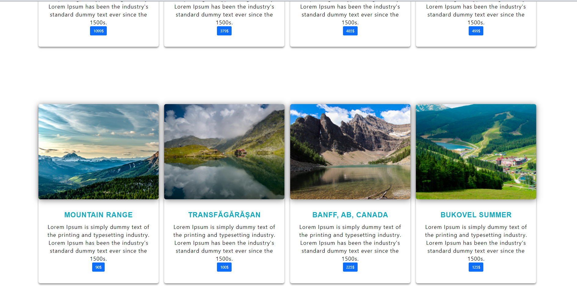Travel company made with bootstrap, html, css and js