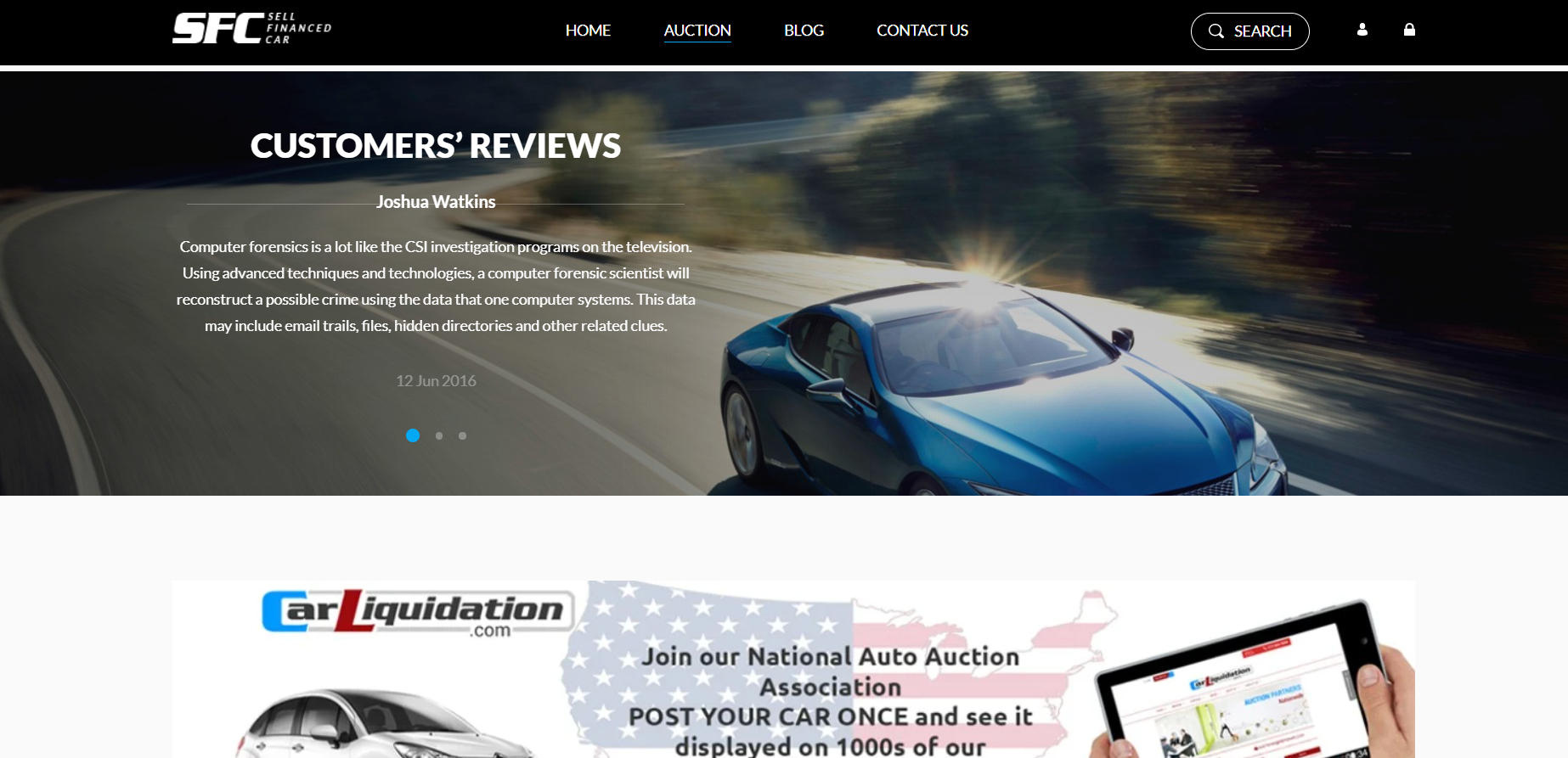 HTML Theme for Selling Cars made with CSS, HTML, JAVASCRIPT