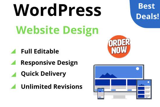 I will build wordpress website,  ecommerce website