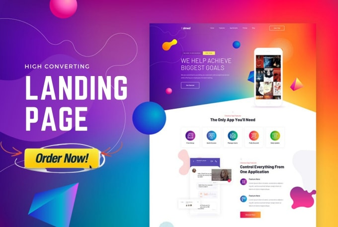 I Will Design WordPress Landing Page