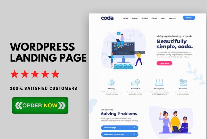 I Will Design Responsive WordPress Landing Page Elementor