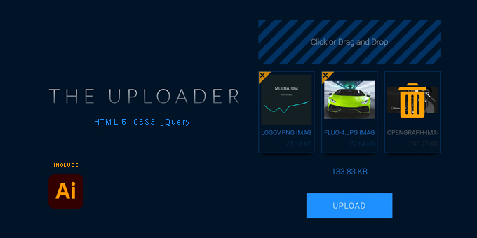 The Uploader 2021 PHP + jQuery