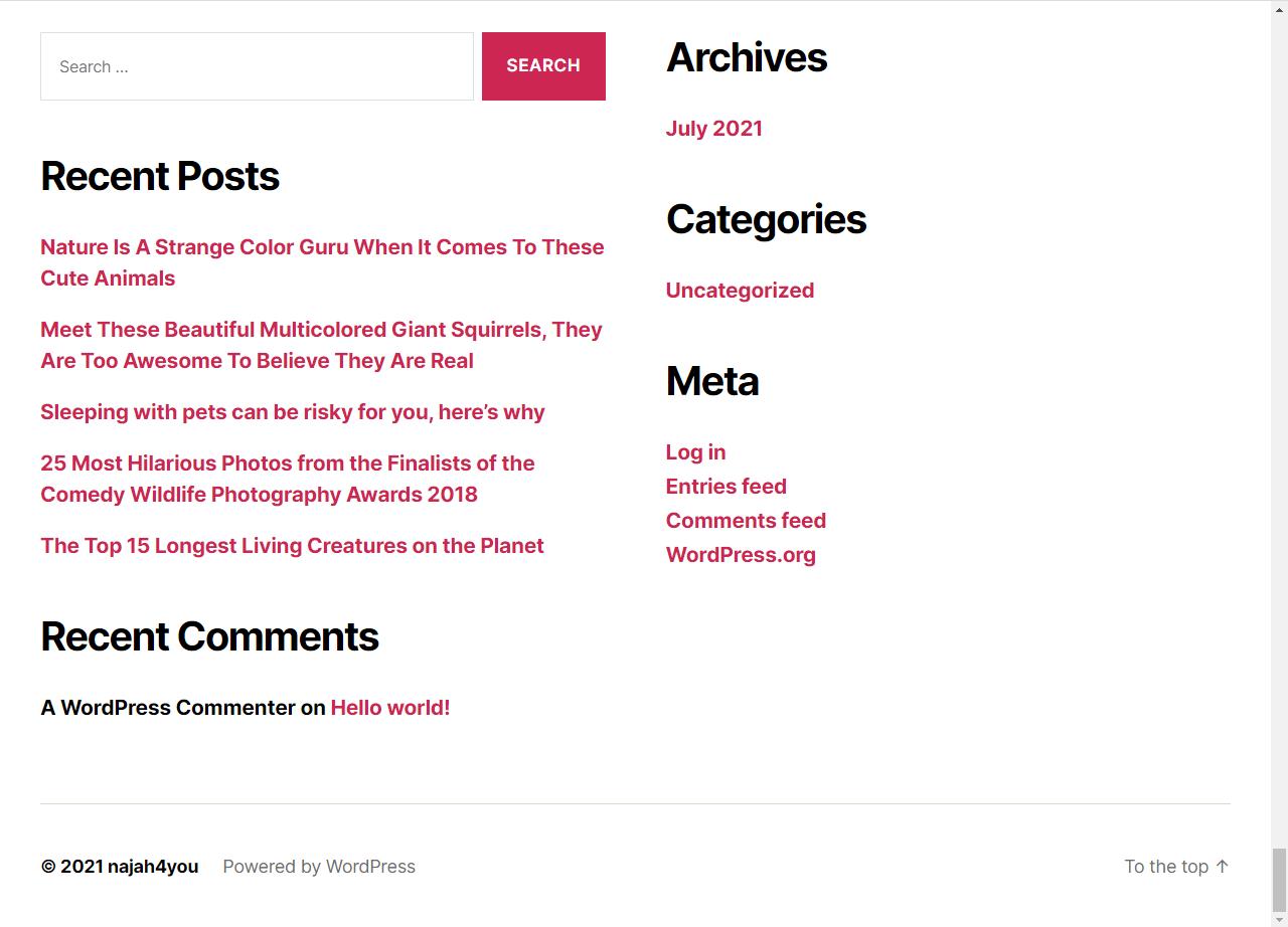 school Minimalistic Wordpress Theme