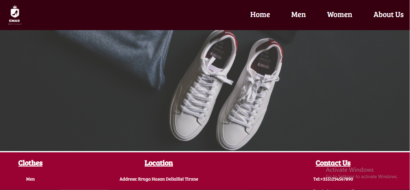 Clothes Website Template HTML,  CSS