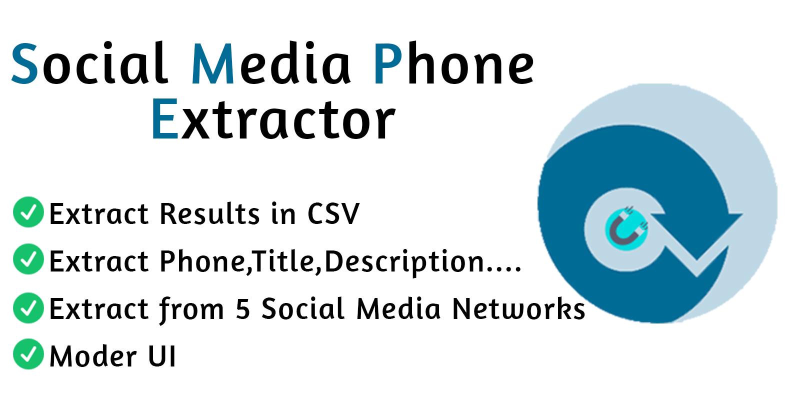 Social Media Phone Extractor Pro