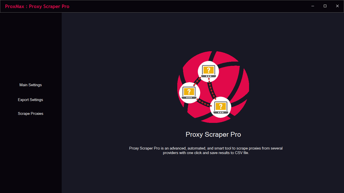 ProxMax : Proxy Scraper & Extractor