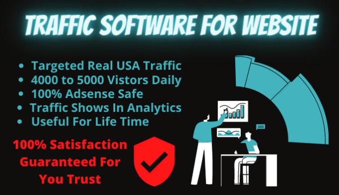 Website Traffic Software Targeted USA Real Visitors For Website