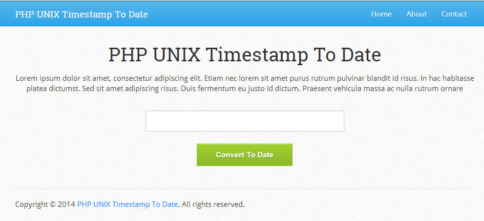 PHP UNIX Timestamp To Date 1.0