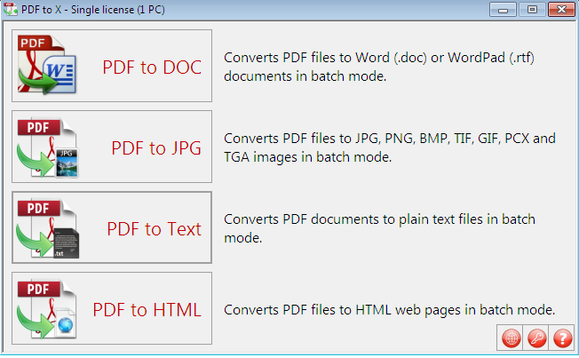 PFD To X - PDF to JPG, PNG, DOC, TXT Converter with License