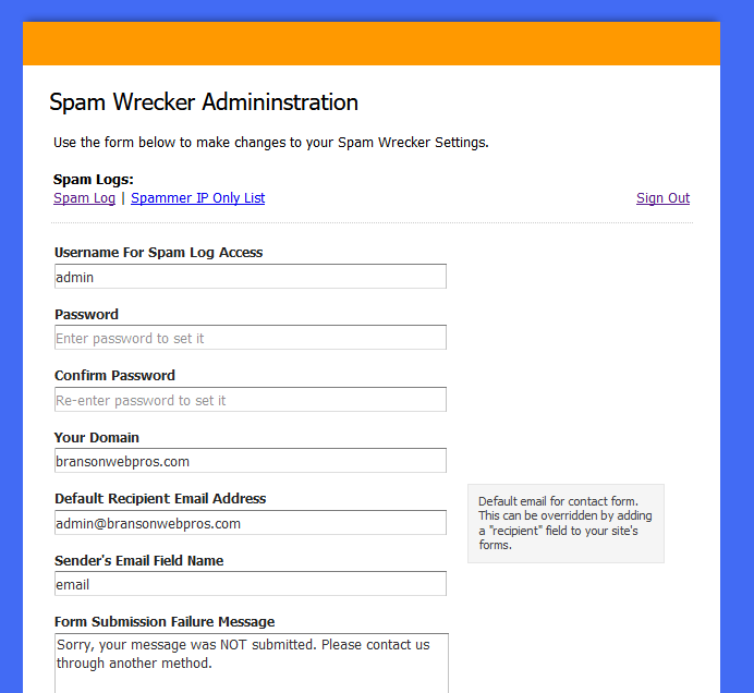 SpamWrecker - Eliminate spam without CAPTCHA