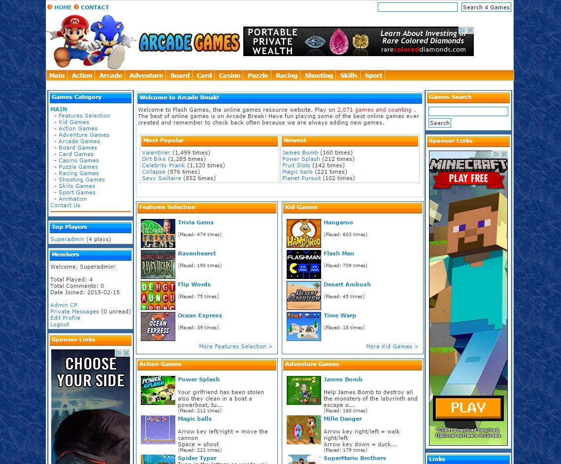 The best TURNKEY ARCADE WEBSITE SCRIPT 2800 GAMES 100% Automated Money Maker