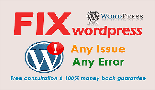 Wordpress error solutions