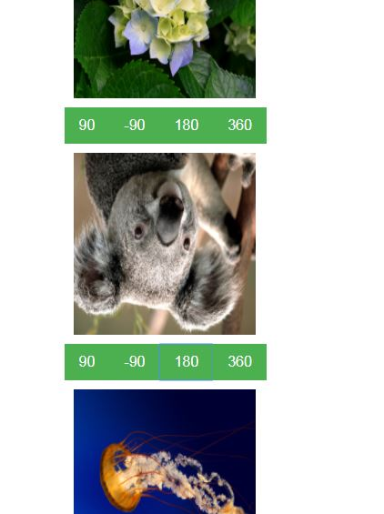 Javascript multi file uploader with rotate images