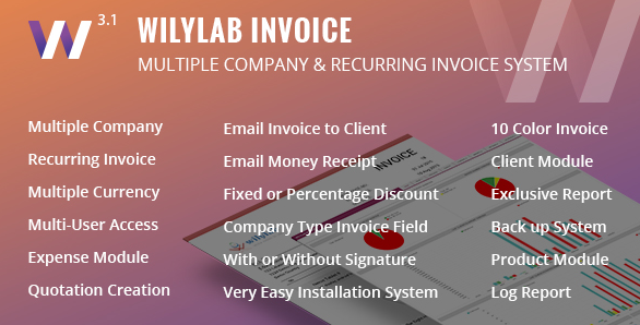 Wilylab Invoice Recurring & Multiple Company Invo...