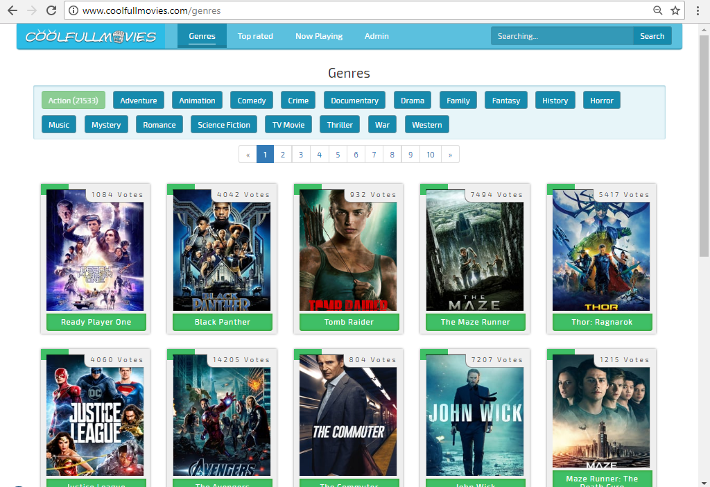 Movie Link Sharing Website - PHP