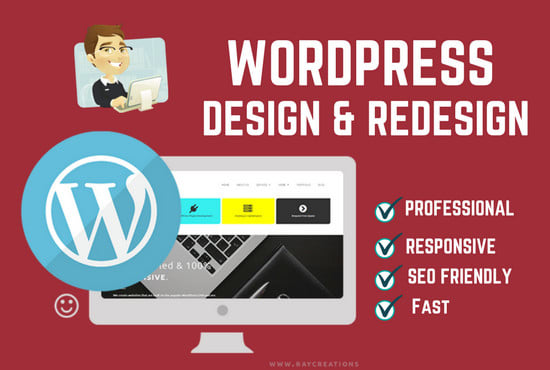 I will design or redesign wordpress full responsive website