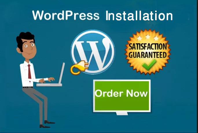 provide wordpress install and wordpress theme install