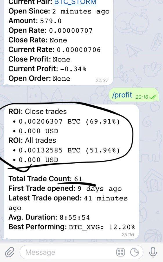 Bittrex Telegram Trading Bot + Install - 3+ Percent Daily