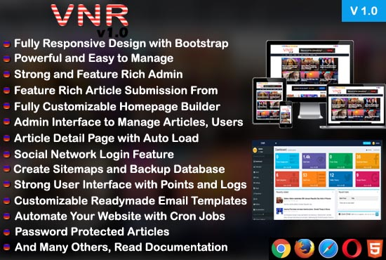 Viral News PHP Script with Auto News Update and Adsense