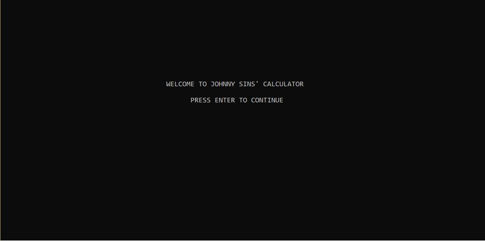Johnny Sins' Calculator