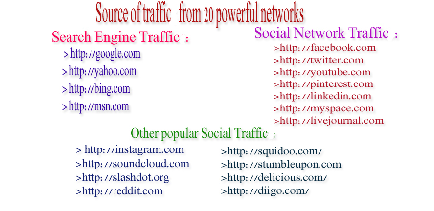 drive human visitors to any kind of your website 3000+ daily visitors for 30 day