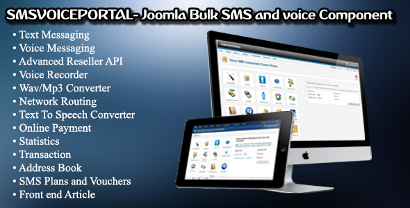 SMSVOICEPORTAL- Joomla Bulk SMS and voice Messaging C...