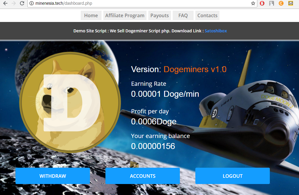 Script Php Dogeminers