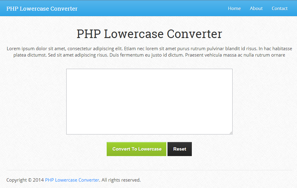 php lowercase