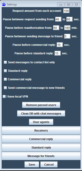 Skyipe Monster Client. For multithread chating, sending requests, sending messages to contact list