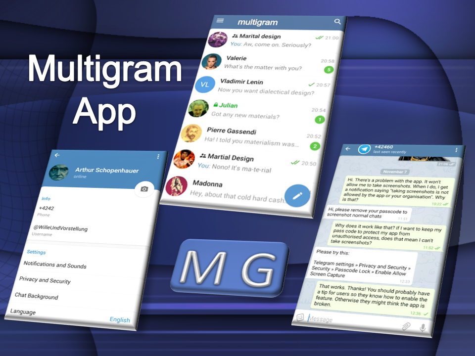 Multigram app for android