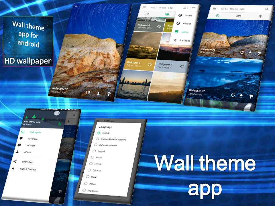 Wall theme app for android